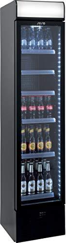 Gastro Spirit - Extra schmaler Kühlschrank mit Umluftventilator/Getränkekühlschrank/Getränkevitrine/6 höhenverstellbare Roste/195 cm Höhe