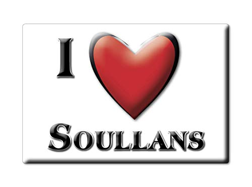 Enjoymagnets SOULLANS (85) Souvenir IMANES DE Nevera Francia ÎLE DE France IMAN Fridge Magnet Corazon I Love