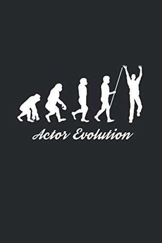 Actor Evolution: Cool Animated Design For Actors Film maker Actress Theater Students Acting  Any Occasion Notebook Composition Book Novelty Gift (6
