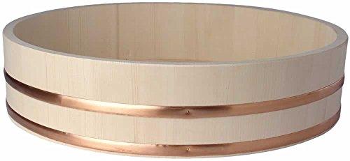 Hangiri 半切 Holzschüssel für Sushi Reis Ø 60 cm / H 16 cm Holzbottich