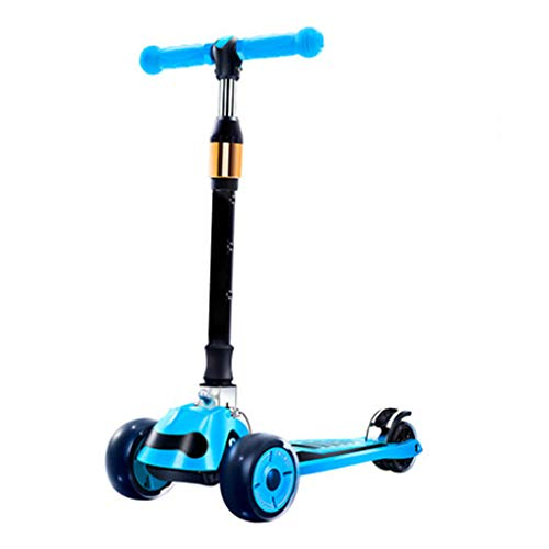 Great Features Of Kids Kick Scooter from 2 to 16 Year-Old Foldable Design Featuring LED Light-Up Whe...