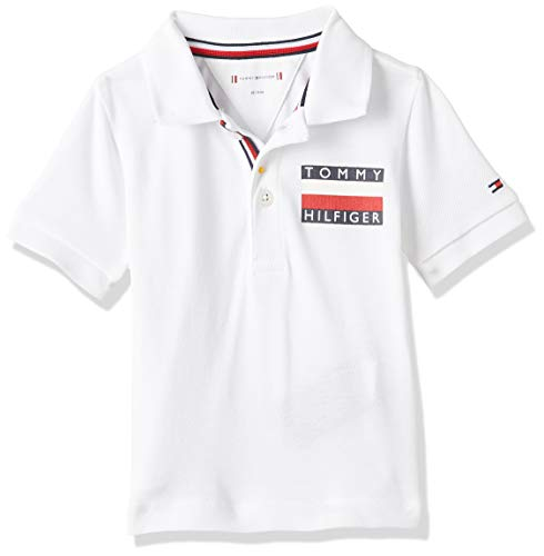 Tommy Hilfiger Baby Boy Tommy Polo S/s Camiseta, Blanco (White Yaf), Talla única (Talla del Fabricante: 80) para Bebés
