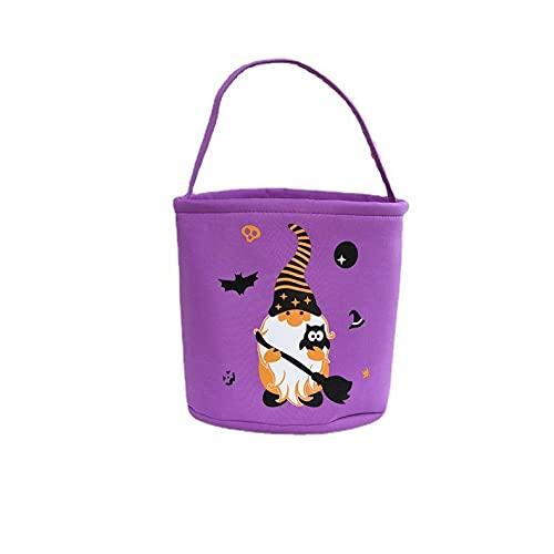 WINBST Torba na Halloween, Halloween torba do przewożenia na cukierek albo psikus, torba do zbierania z uchwytem na Halloween dyniową kulę akcesoria na Halloween dla dzieci