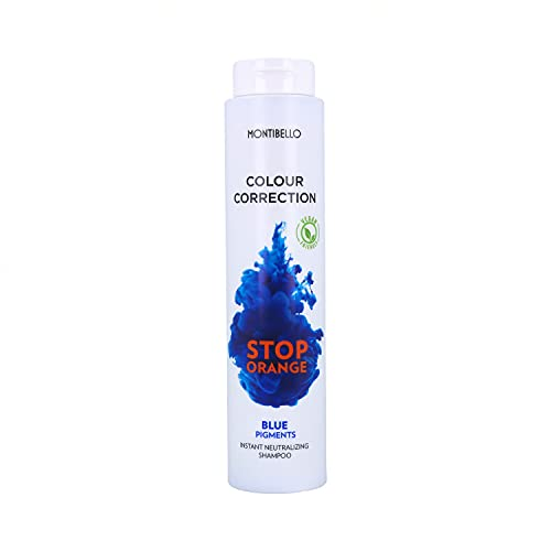 Montibello Colour Correction Stop Orange Champú 300 ml (Neutralizador+Pigmento Azul), 300ML, 300