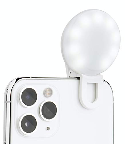 LITTIL Selfie Mini - Small Selfie Ring Light for Mobile Phone or Laptop. Bright LED Fill Light Perfect for Tiktok, Influencers, Stories, Photos, Videos, Going Live & Vlogs.