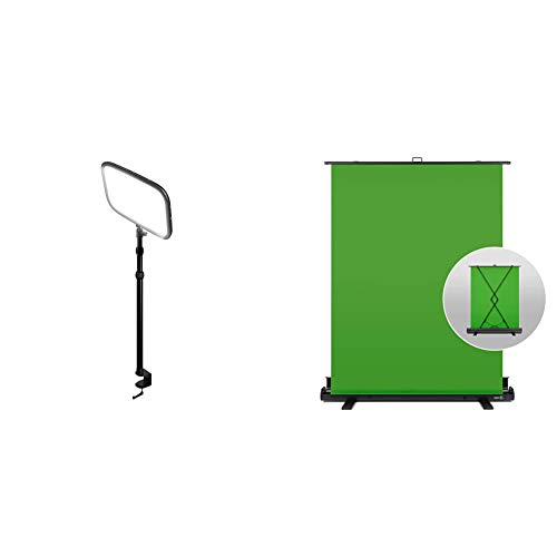 Corsair Elgato Key Light + Elgato Green Screen Ausfahrbares Chroma-Key-Panel Zusammenklappbar