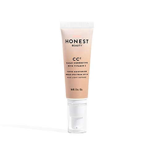 Honest Beauty Clean Corrective with Vitamin C Tinted Moisturizer Broad Spectrum SPF 30, Fair | VEGAN | 6-in-1 Multitasker | Blue Light Defense | Chemical Sunscreen Free & Dermatologist Tested | 1oz