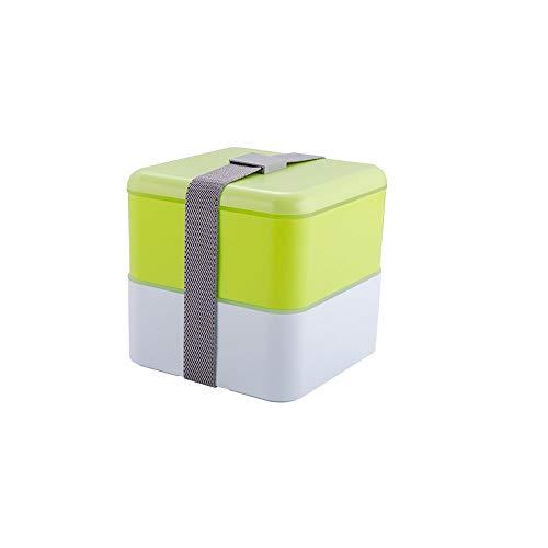 ZSLLO Boîte à Lunch, matériel de santé étanche boîte à Lunch Micro-Ondes Vaisselle Haute qualité conteneur de Stockage des Aliments boîte à Lunch 2 Couches 3 Couleurs (Couleur : Vert)