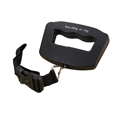 Báscula portátil de 50 kg para Equipaje de Viaje, Maleta, Bolsa, báscula, retroiluminación, Gancho Digital, báscula de cinturón