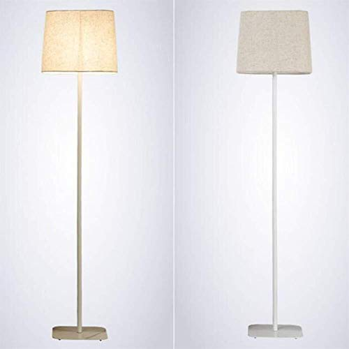 YUQIYU Piso Luces de metal for las luces de suelo for la sala de estar/sofá/Dormitorio/Sala de Estudio/Cafetera Decorar simple baja Luz 7W caliente llevado Bombilla incluido, blanca