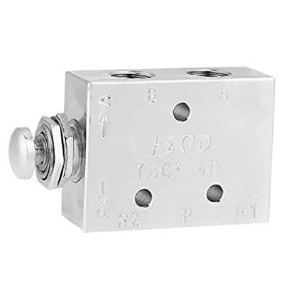 2 Position 3 Way Air Pneumatic Toggle Valve TAC2-41P ON/OFF Knob Control by Wal front