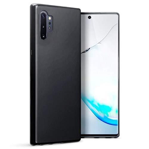 Capa Capinha Para Samsung Galaxy Note 10 Plus De Tela 6.8Polegadas Capinha Transparente Clear Ultra Fina Slim Silicone - Danet (Preto fumê)