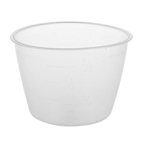 SODIAL(R)2 Stueck Kunststoff 120 ml Elektro-Herd Reis Messbecher Reis Tasse - Klar & Weiss