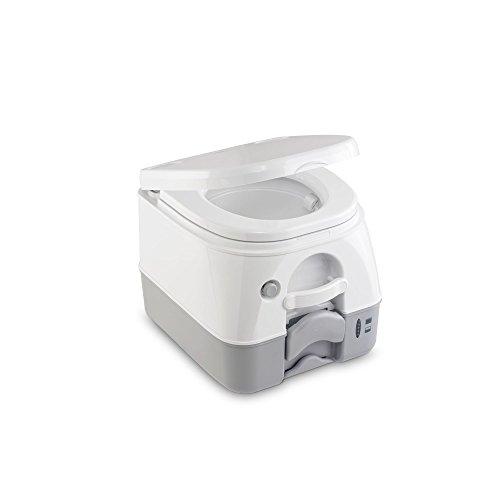 DOMETIC 972, Toilette portable, Blanc/Gris, Réservoir à matières de 9.8L, p387xh318xl334mm