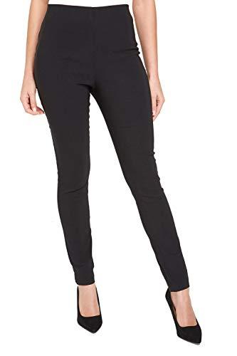 Roman Originals Stretchiga byxor för kvinnor - Bengaline dra på leggings smarta treggings anpassade skräddarsydda avsmalnande elastisk midja arbete kontor tjocka byxor