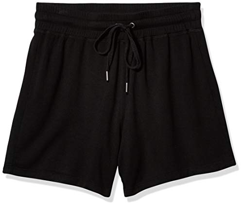 Splendid Women's Elastic Waistband Knit Short, Black, XS