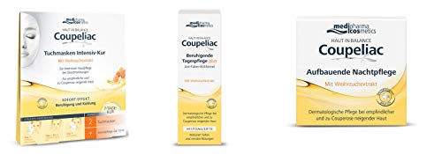 Haut in Balance Coupeliac Set mit Tagescreme/Nachtcreme/Tuchm.