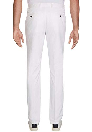 Tommy Hilfiger Homme Denton Chino Summer Twill Flex Loose Fit Jeans, Blanc (Bright White), W33/L28