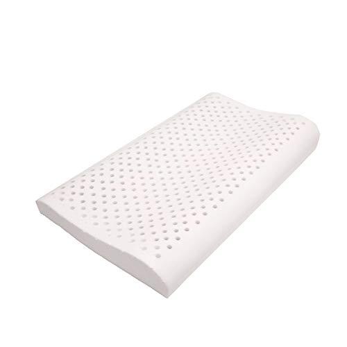 Almohada de látex revolucionaria para personas que duermen en la espalda [Mejor para usted que almohadas de espuma con memoria] - Hipoalergénica - Alivio para el dolor de cuello