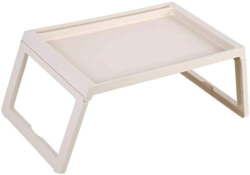 File cabinets Nachttisch Betttablett Betttisch Tablett klappbar tragbar Schreibtisch Ständer Notebook zum Frühstück 54,5 x 36 x 27 cm Beistelltisch (Farbe: Beige)