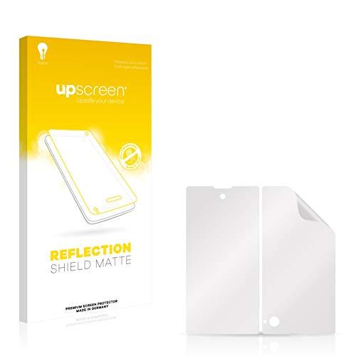 upscreen Entspiegelungs-Schutzfolie kompatibel mit Yota Devices Yotaphone – Anti-Reflex Bildschirmschutz-Folie Matt