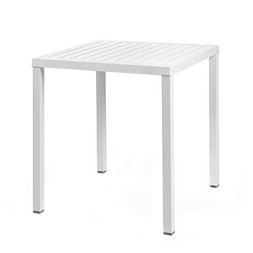 Nardi Gartentisch / Stapeltisch Cube 70 Kunststoff 70x70cm bianco