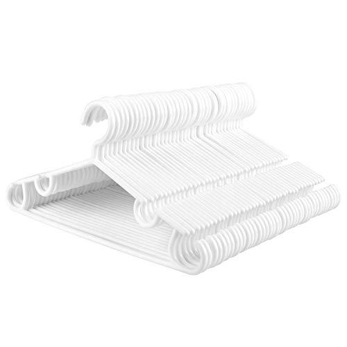 Homfa 40 Stück Kleiderbügel für Kinder 32cm Kinderbügel Wäschebügel aus hochweritigem Kunststoff Anzugbügel Jackenbügel weiß