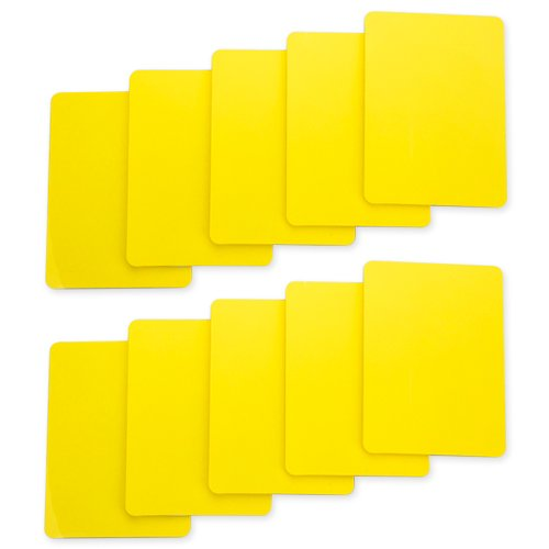 Brybelly Lot of 10 Poker Size Cut Cards (Yellow)