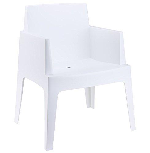 Alterego - Chaise design 'PLEMO' blanche en matière plastique