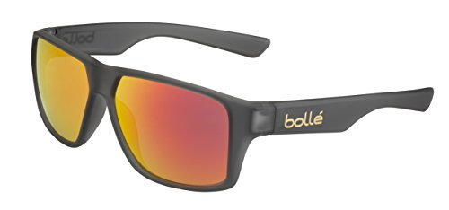 bollé Erwachsene Sonnenbrille Brecken, Matt Grey Crystal, Medium, 12429