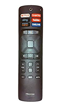 OEM Hisense ERF3A69 Smart TV Voice Command Remote Control with Netflix Google Play Sling YouTube Fandango Now Tikilive Buttons for 55H9100E 55H9100EPLUS 655H9100E 65H9100EPLUS 65H9808
