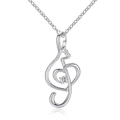 Devobunch Musical Note Heart Pendant Necklace, Love Gift for Women Girls (Musical Note Heart)