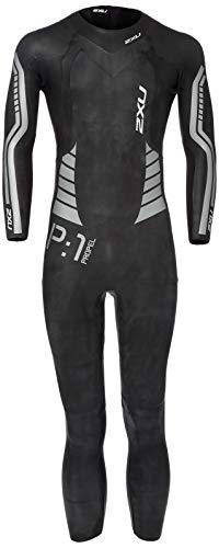 2XU Mens P:1 Propel Wetsuit, Black/Silver, Medium
