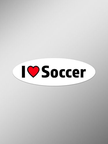 I Love Soccer Vinyl Decals Stickers (Two Pack) | Cars Trucks Vans Windows Walls Laptop Cups | Printed | 2-5.5 Inch Decals | KCD1467