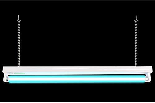 Knoijijuo UV-Sterilisationslampe Hängende Sterilisationslampe T8-Quarz-Ozonröhre Tötet 99,9% Der Bakterien-Schimmelpilz-Viren Effektiv Ab,A,No Ozone