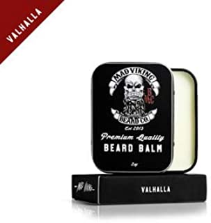 Mad Viking Beard Co. All-Natural, Premium Beard Balm, Strengthens, Softens Beards & Mustaches, Moisturizes Skin, Helps Relieve Acne & Dry Skin. Paraben, Sulfate & Cruelty-Free, 2oz (Valhalla)