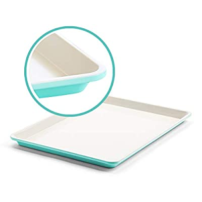 """GreenLife Bakeware Healthy Ceramic Nonstick, Cookie Sheet, 18"""" x 13"""", Turquoise"""