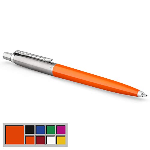 Parker Jotter Originals Colección de bolígrafos, acabado clásico naranja, punta mediana, tinta azul, una unidad