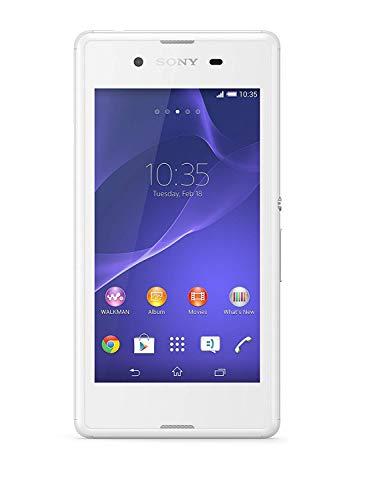 Sony Xperia E3 Smartphone (Dual-SIM) Android (4.5 Zoll Display, 5 MP Kamera, 4 GB, 1.2 GHz, 1 GB RAM) weiß