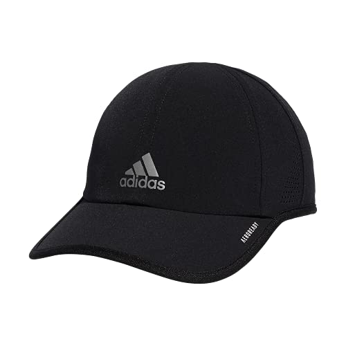 adidas Boys' Kids Girl's Superlite Relaxed Adjustable Performance Cap, Black/White, One Size