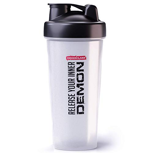 Demon Labz Protein Shaker Bottle 600ml, Leak Proof & BPA Free - Perfect for Protein Shakes and Supplement Drinks - Release Your Inner Demon