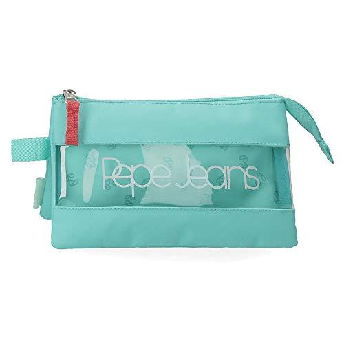 Estuche Pepe Jeans Darienne Tres Compartimentos, Verde, 22 x 12 x 5 cm