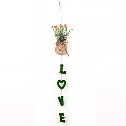 Gungun Flores en Maceta, Flores Decorativas de la Sala de Estar, decoración de Paredes, Enredaderas, Plantas en macetas Artificiales, Plantas en macetas para Interiores, decoración del hogar,Love