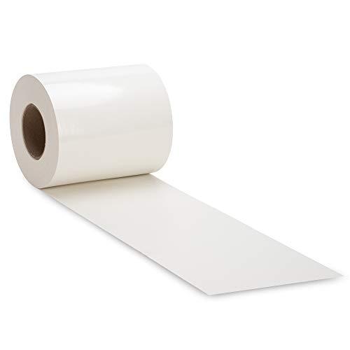 NOOR Zaunblende PVC Blickdicht 630 g/m2 Weiß I 0,19 x 35 m I Der ideale Sichtschutz für Ihren Doppelstabmattenzaun I Sichtschutzstreifen in vielen Farben I Witterungsbeständig