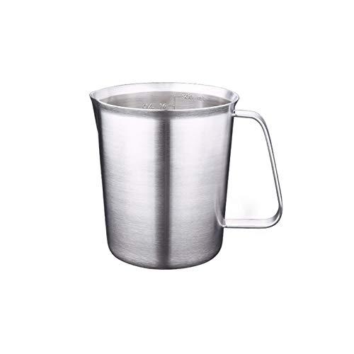 Olanda Messbecher aus Edelstahl, hohe rührschüssel Function Bowls Rührschüssel, Krug Milchkännchen mit Mess Waagen Newness Edelstahl-Messbecher milchkännchen Skalenmessbecher (ML) (500 ML)