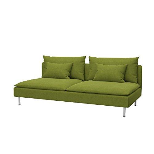 Soferia Funda de Repuesto para IKEA SÖDERHAMN sofá Cama, Tela Elegance Green, Verde