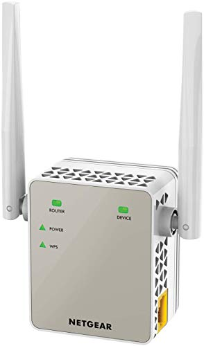 Netgear WLAN Repeater EX6120 WLAN Verstaerker & Super-Boost WiFi (AC1200 Dual Band, Abdeckung 2 bis 3 Räume & 20 Geräte, Geschwindigkeit bis zu 1200 MBit/s, kompaktes Design)