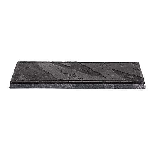 MAQA Plato plástico negro cuadrado rectangular y redondo paquete de 10 unidades 337P