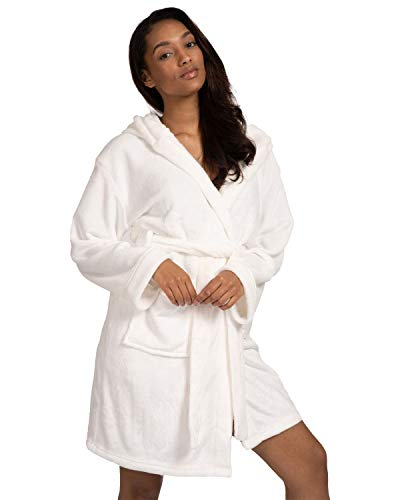 Undercover Ladies Loungeable Satin Trim Robe 790242 Ivory Medium