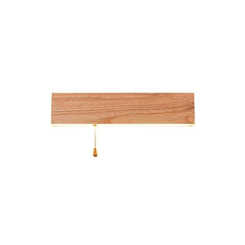 YU-K Chambre Simple Vintage wall lamp creative living salle à manger chambre lumières lumières allée du bois d'origine de la lampe de chevet mural led lampe de chevet en bois bureau d'étude japonais wall lamp (36cm de long)